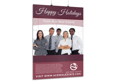 Christmas Real Estate Poster Template preview