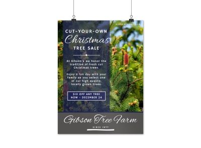 Christmas Tree Sale Poster Template