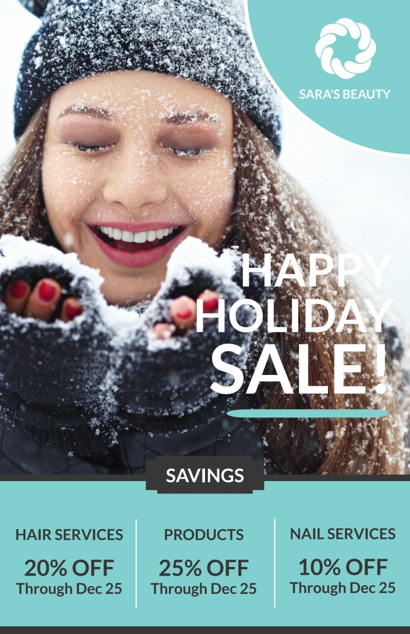 Christmas Sale Poster Template Preview 2
