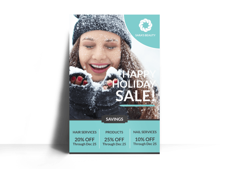 Christmas Sale Poster Template Preview 1