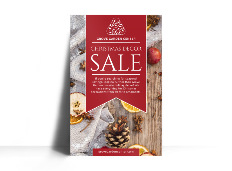 Christmas Decor Sale Poster Template