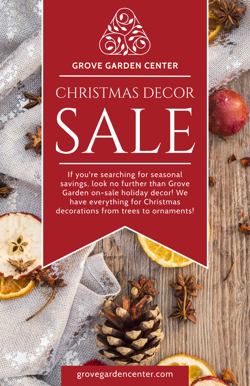 Christmas Decor Sale Poster Template Preview 2
