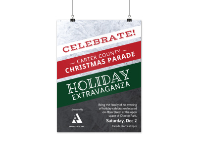 Christmas Parade Poster Template