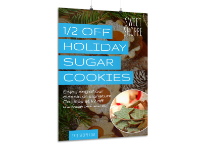 Christmas Cookie Sale Poster Template preview
