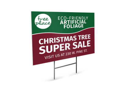 Christmas Tree Sale Yard Sign Template
