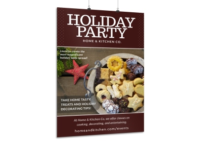 Christmas Holiday Party Poster Template preview