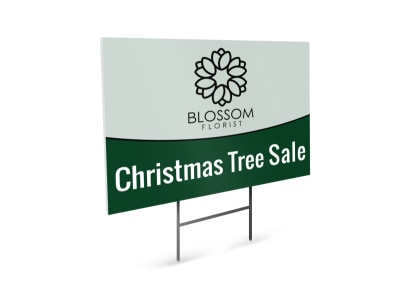 Green Christmas Tree Sale Yard Sign Template preview