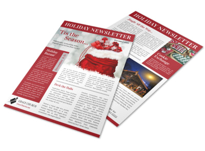 Christmas Time Newsletter Template preview