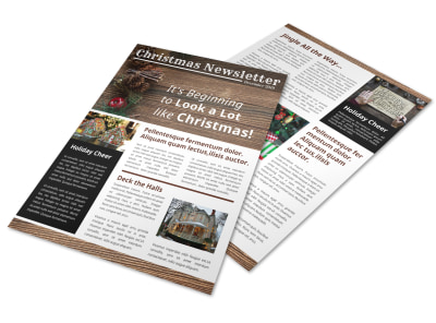 Rustic Christmas Newsletter Template preview