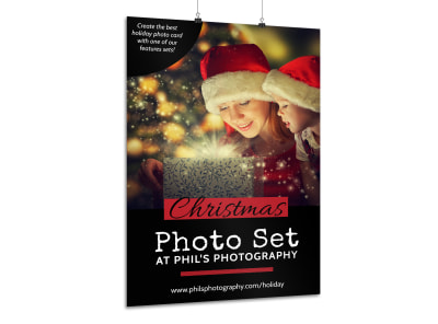 Christmas Photo Set Poster Template preview