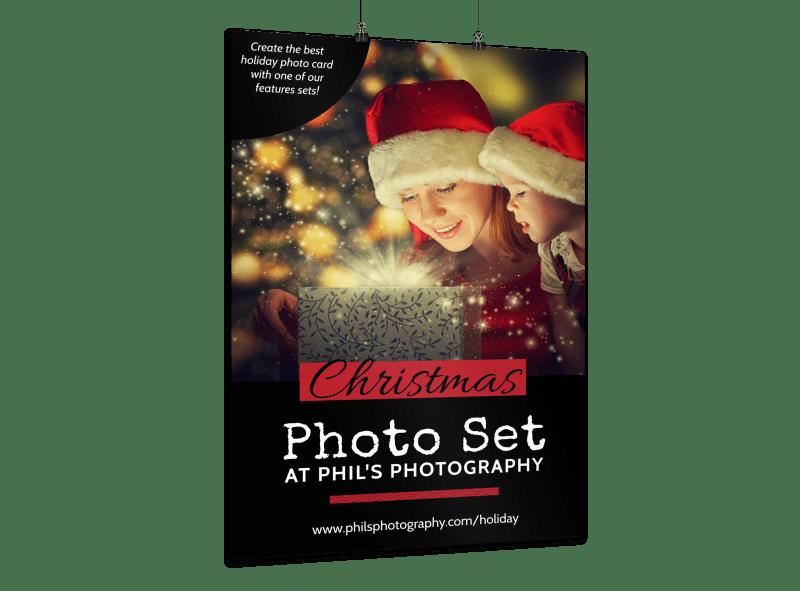Christmas Photo Set Poster Template