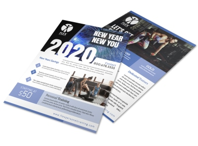 New Year Fitness Flyer Template preview