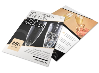 New Year's Eve Drink Flyer Template preview