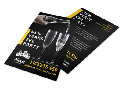 New Year Party Flyer Template preview