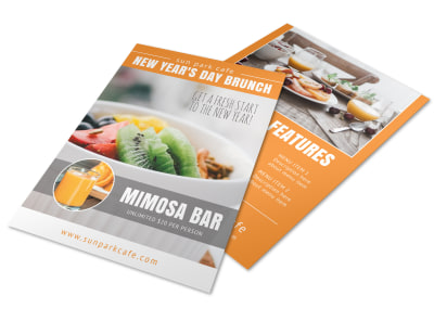 New Year's Brunch Flyer Template preview