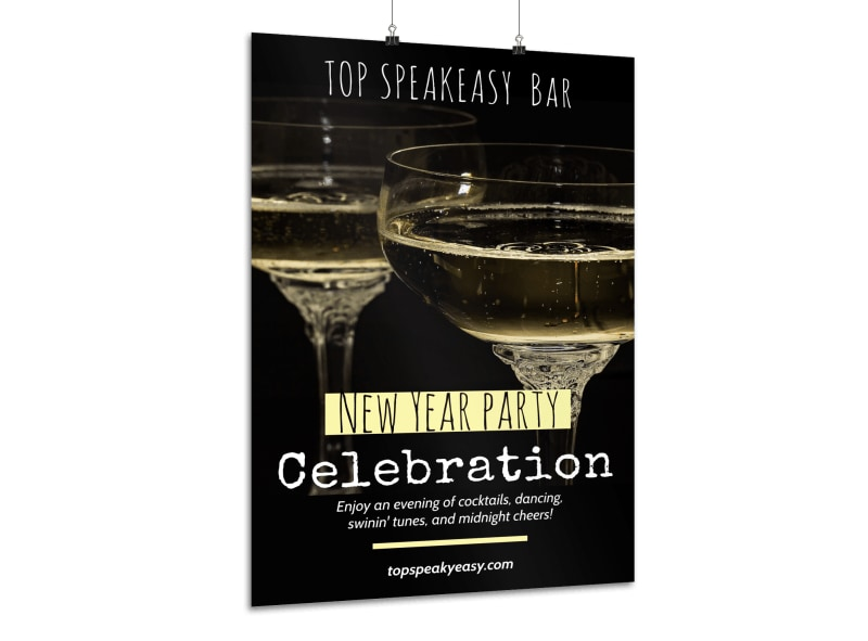 New Year's Party Poster Template