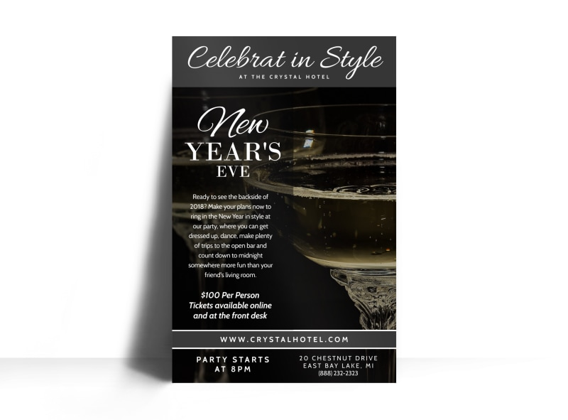 New Year's Celebration Poster Template