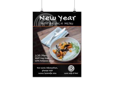 New Year's Brunch Poster Template preview