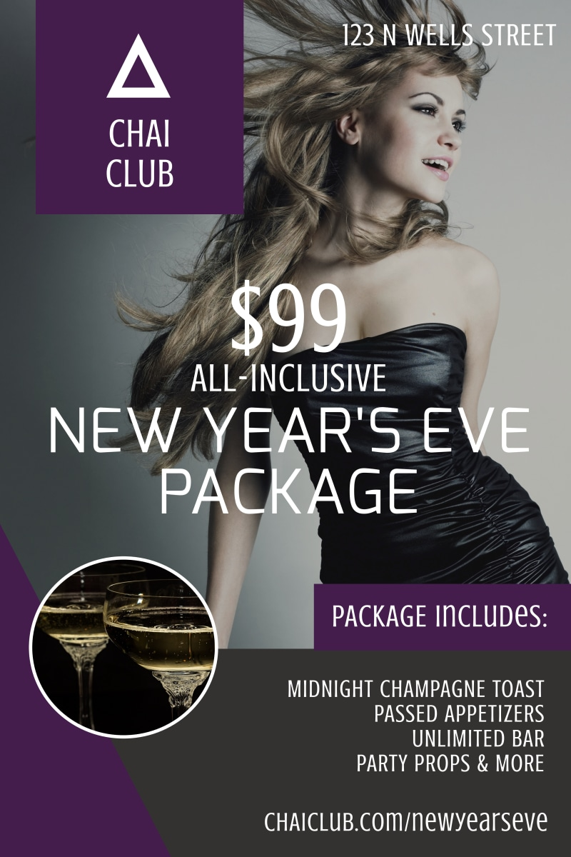 New Year's Eve Club Poster Template Preview 2
