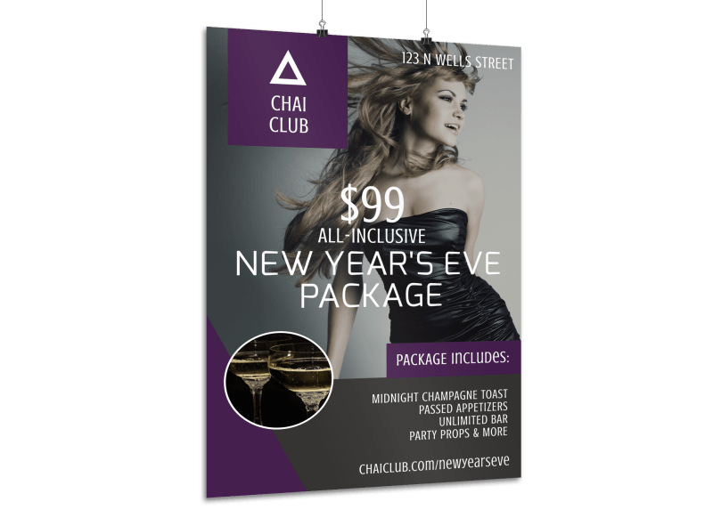 New Year's Eve Club Poster Template Preview 1