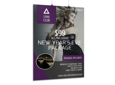 New Year's Eve Club Poster Template preview