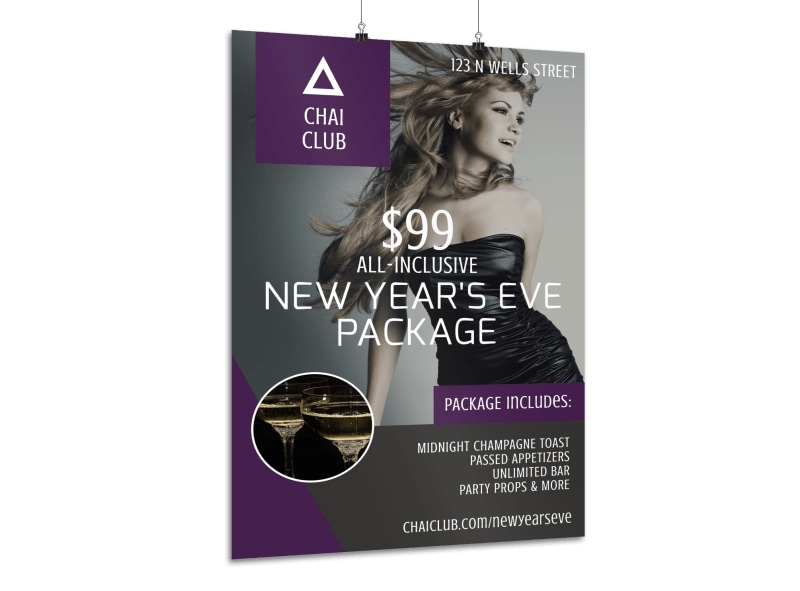 New Year's Eve Club Poster Template
