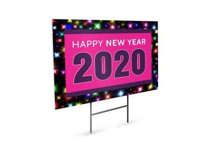 New Year Yard Sign Template preview