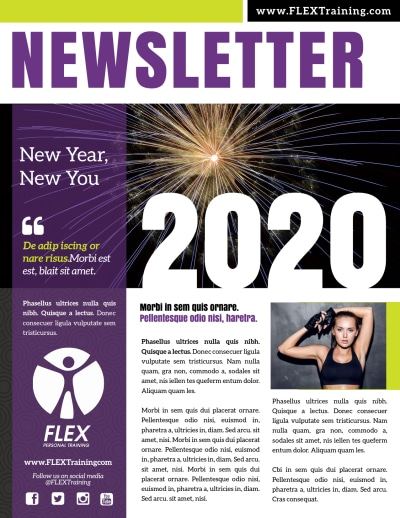 New Year's Fitness Newsletter Template Preview 1