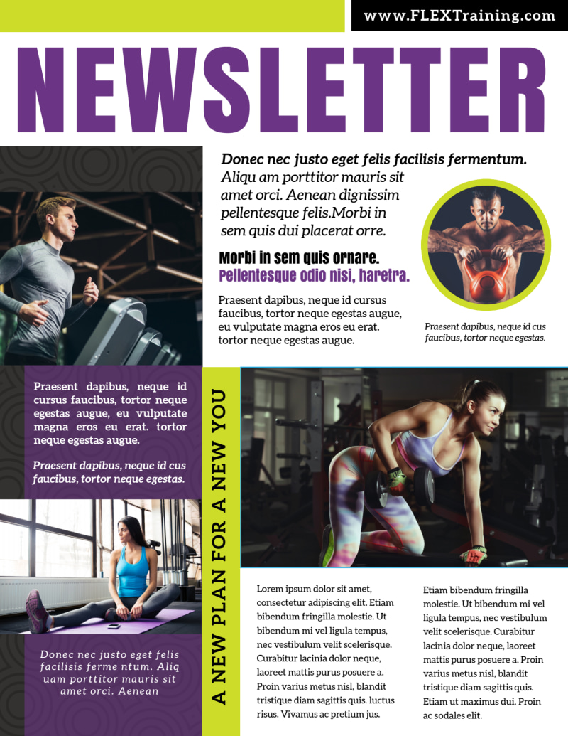 New Year's Fitness Newsletter Template Preview 3