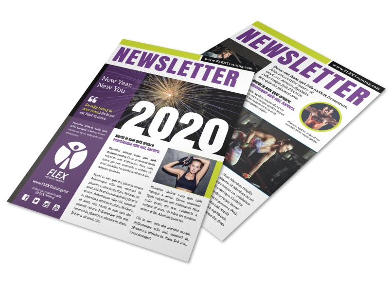 New Year's Fitness Newsletter Template Preview 4