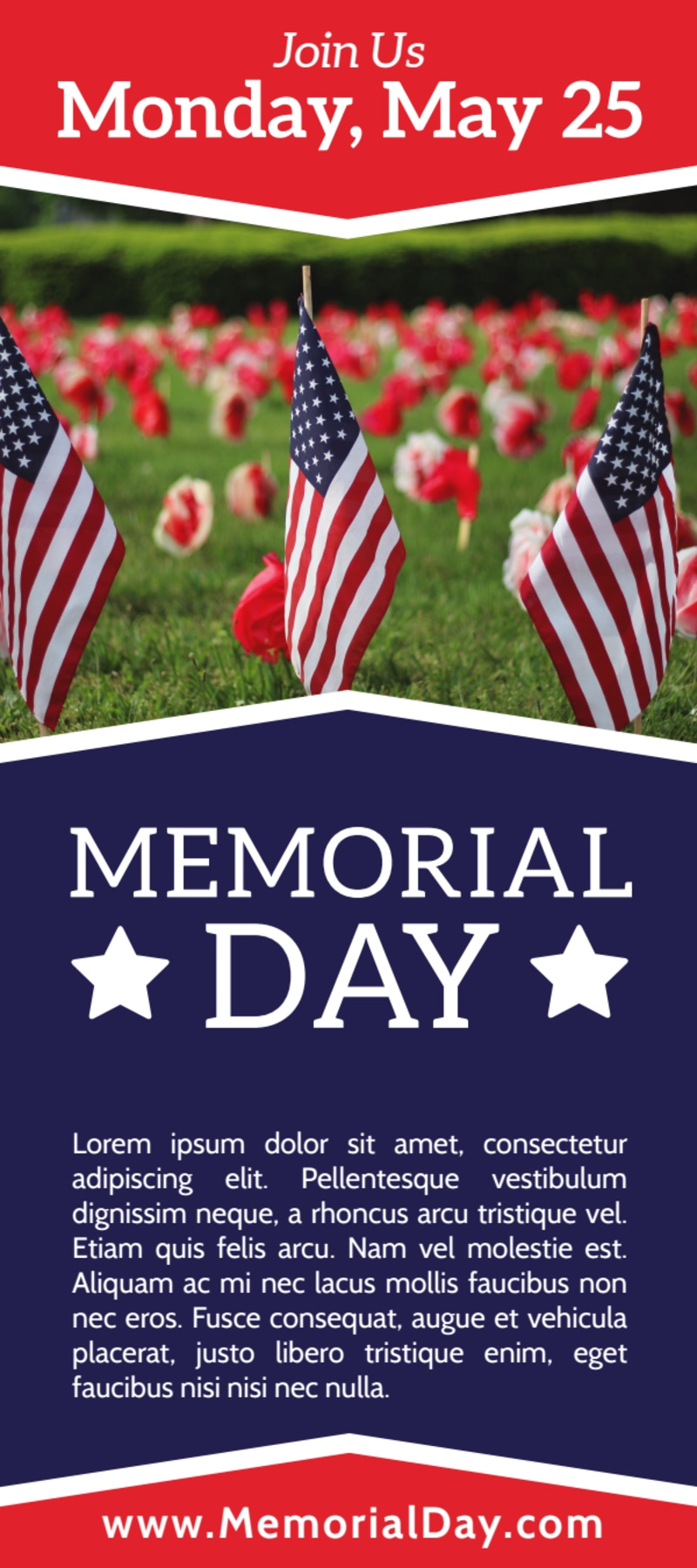 Simple Memorial Day Flyer Template Preview 2