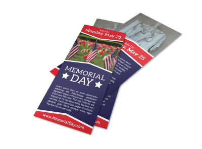 Simple Memorial Day Flyer Template preview
