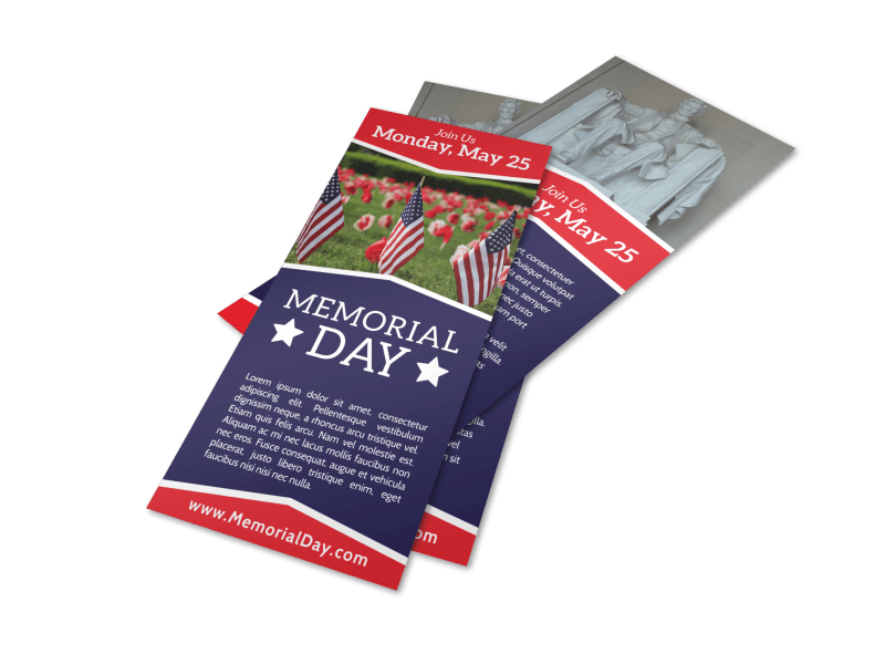 Simple Memorial Day Flyer Template Preview 1
