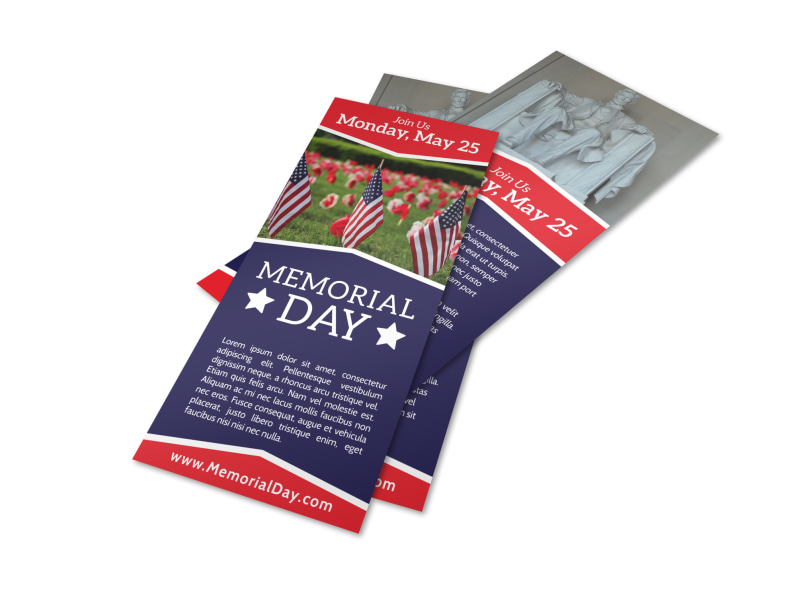 Simple Memorial Day Flyer Template Preview 4