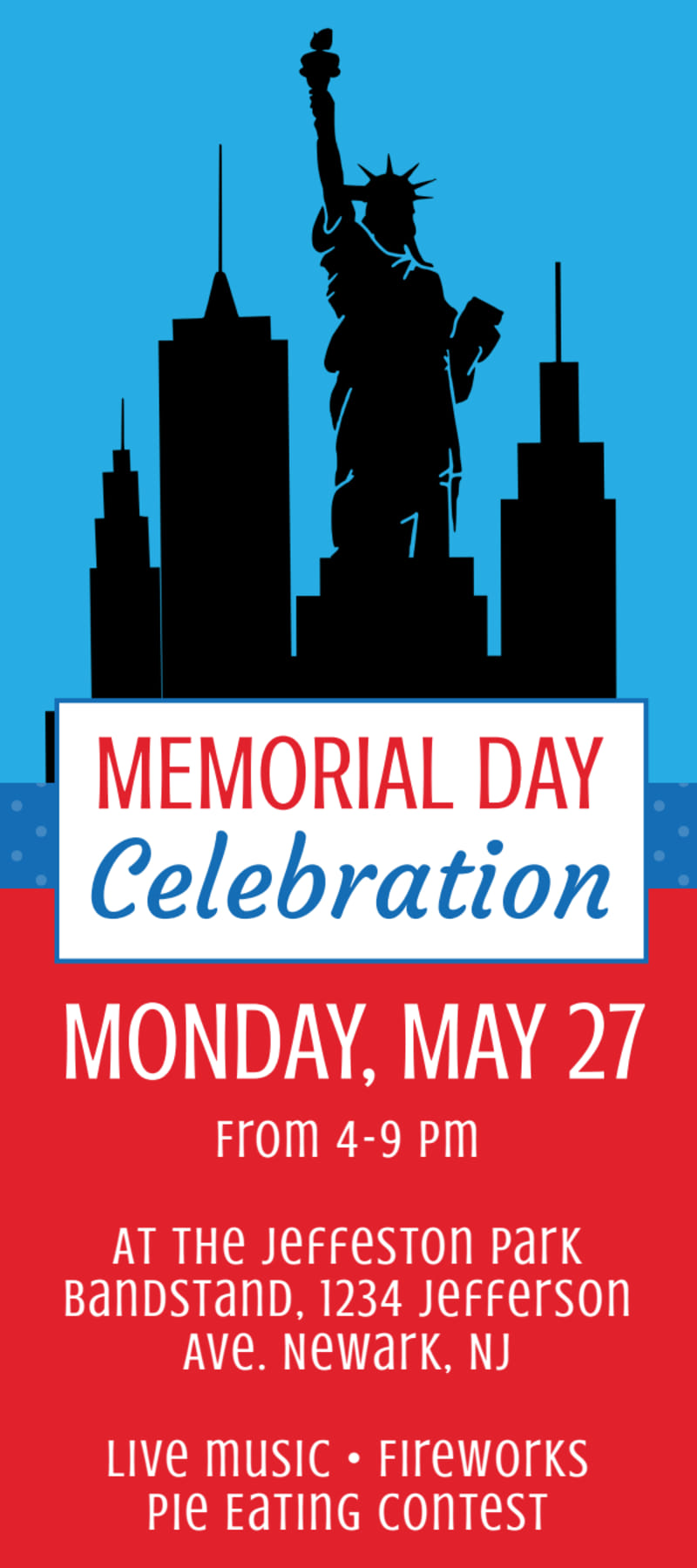 Memorial Day Celebration Flyer Template Preview 2