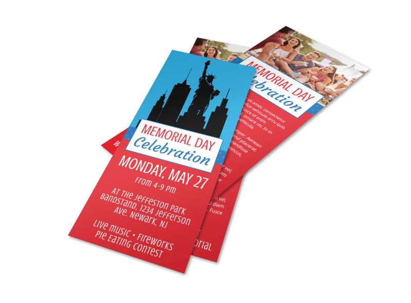 Memorial Day Celebration Flyer Template Preview 1