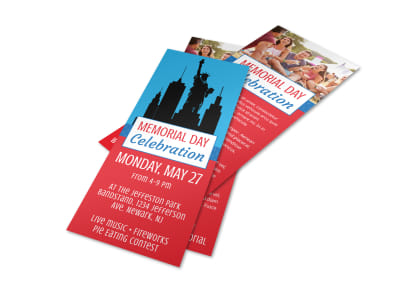 Memorial Day Celebration Flyer Template preview