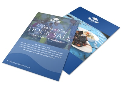 Memorial Day Dock Flyer Template preview