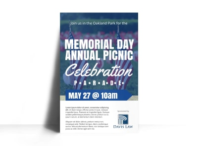 Memorial Day Celebration Poster Template preview