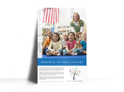 Memorial Day Kids Concert Poster Template