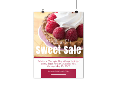 Memorial Day Sweet Sale Poster Template preview