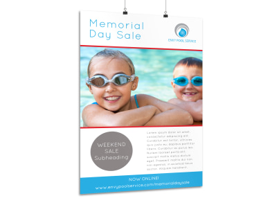 Memorial Day Weekend Sale Poster Template preview