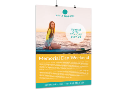 Memorial Day Weekend Water Poster Template preview