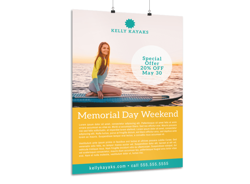 Memorial Day Weekend Water Poster Template