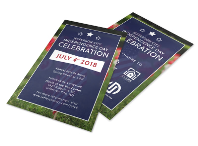 4th Of July Celebration Flyer Template