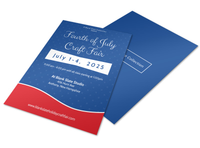4th Of July Craft Fair Flyer Template preview