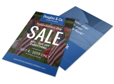 4th Of July Sale Flyer Template