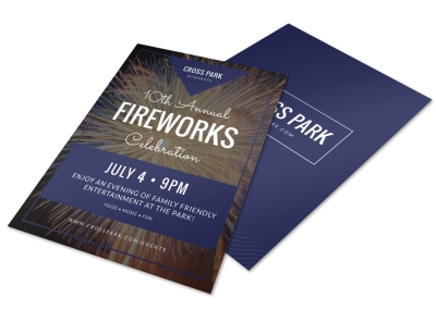 4th Of July Fireworks Flyer Template