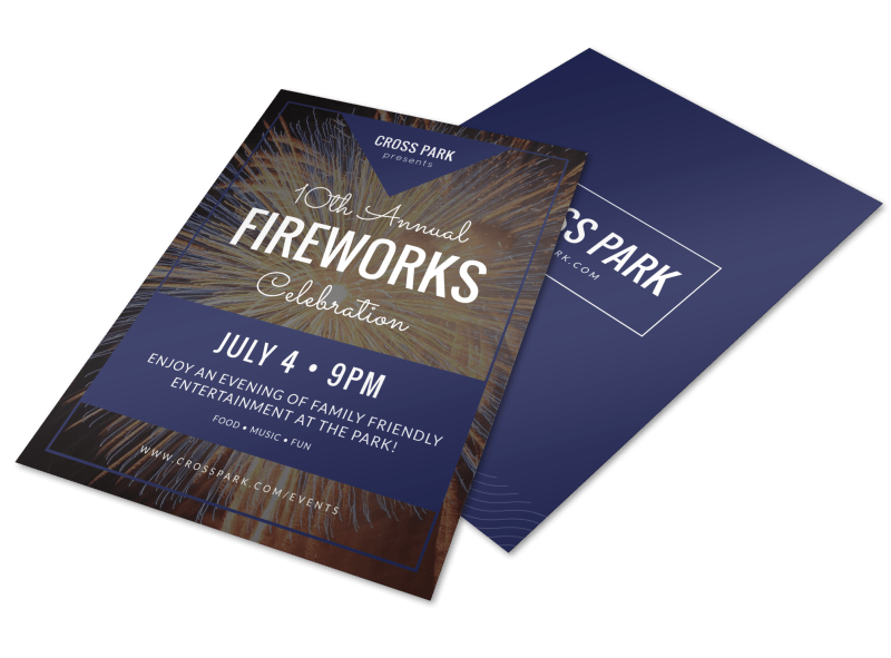 4th Of July Fireworks Flyer Template Preview 1