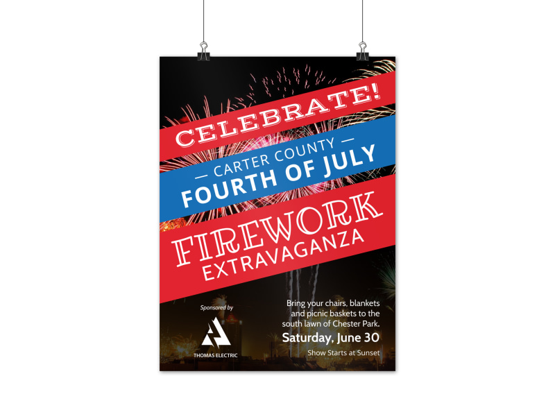 4th Of July Celebration Poster Template
